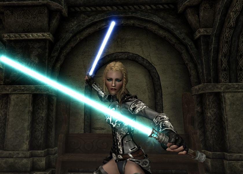 Скайрим мод на световые мечи