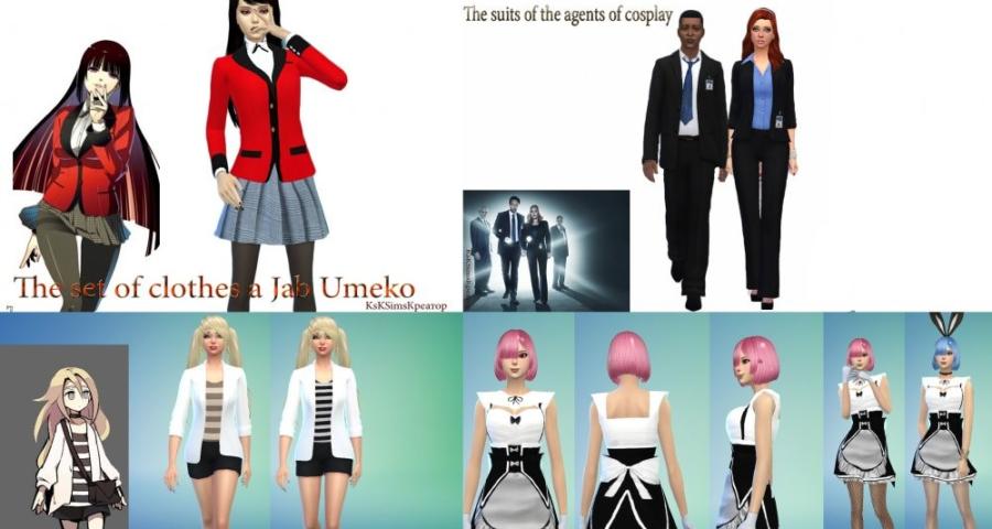 Моды для симс 4 на внешность аниме