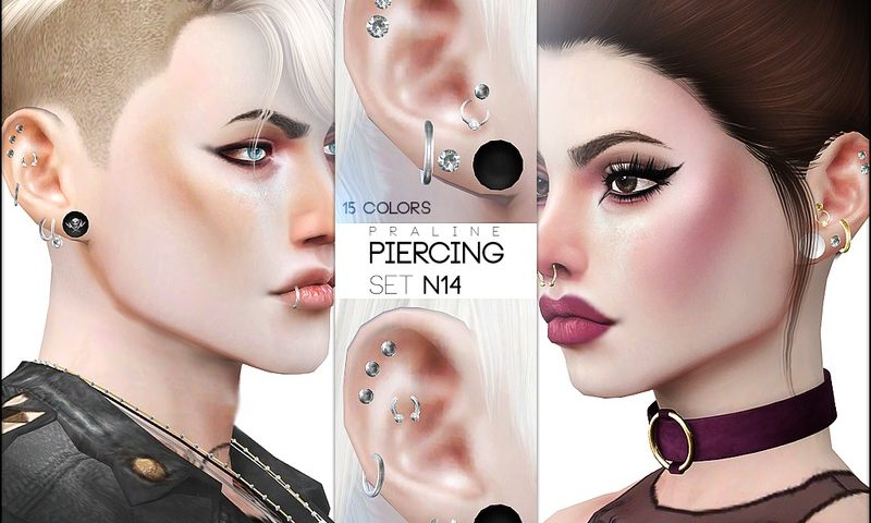 Моды для симс 4: пирсинг