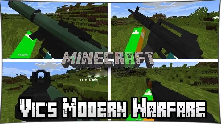 Мод Vic's Modern Warfare 2 на Майнкрафт 1. 12. 2