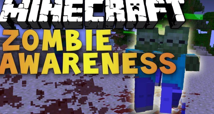 Мод Zombie Awareness на Майнкрафт 1. 12. 2