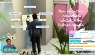 Мод Симс 4, на новые карьеры (Fashion Career)