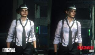 Скачать мод Claire Noir прозрачная рубашка Resident Evil 2: Remake