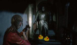 "Скачать мод на смешные звуки при приближении Мистера Х ""Mr Squeaky X"", Resident Evil 2: Remake"