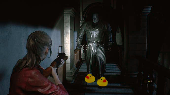 Скачать мод на смешные звуки при приближении Мистера Х, Resident Evil 2: Remake
