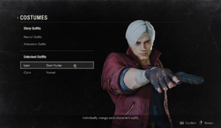 Скачать мод внешность Данте из Devil May Cry для Леона, Resident Evil 2: Remake