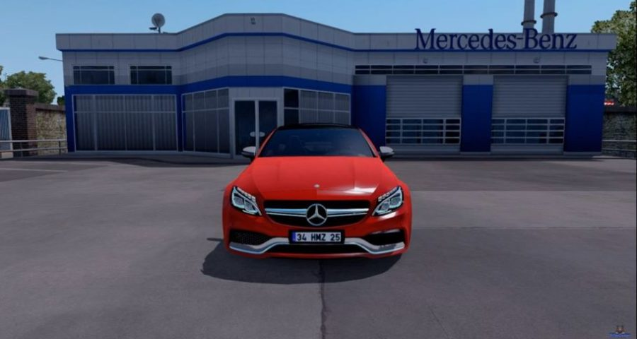 Мод Mercedes Benz C63S AMG Coupe для Euro Truck Simulator 2