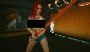 Мод на Cyberpunk 2077: «Светящийся бюстгальтер и шорты с колготками»
