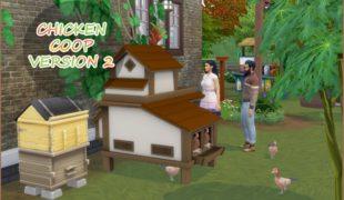 Мод для Симс 4: курятник