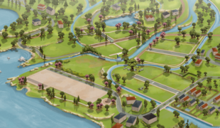 Мод для Симс 4: фан-карта Willow Creek