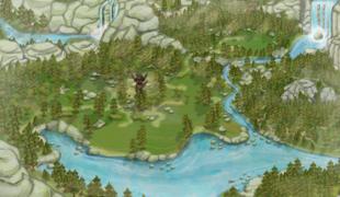 Мод для Симс 4: карта водопада в Гранит