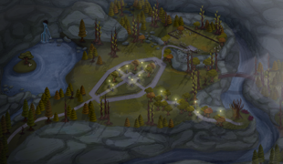 Мод для Симс 4: карта забытой лощины