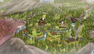 Мод для Симс 4: Глиммербрук (карта)