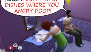 The Sims 4 мод: посуда только на кухне! ( Don't Wash Dishes Where You Angry Poop )