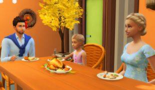 Мод для Симс 4: празднование Дня Благодарения