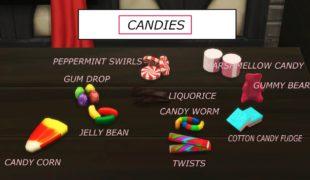 Мод для Симс 4: аппарат для конфет к Хуллоуину