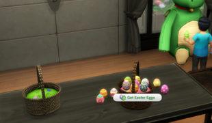 Мод для Симс 4: пасхальная корзина с яйцами