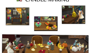 Мод для Симс 4: изготовление свечей