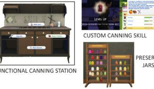 Мод для Симс 4: целая станция для консерв