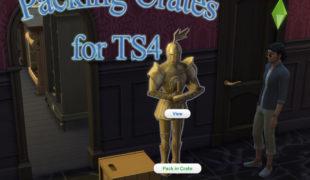 Мод для Симс 4: упаковочные коробки