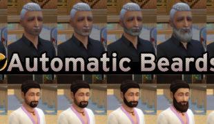 Мод для Симс 4: автоматическая борода