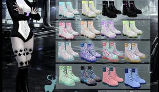 Мод для Симс 4: ботинки GAMMA