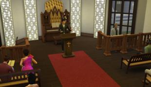 Мод для Симс 4: церковь и новую черту характера
