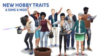 Мод для Симс 4: хобби - черты характера