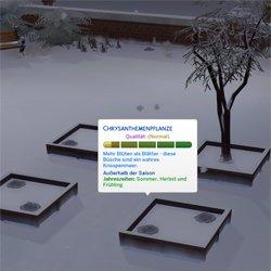 Мод для Симс 4: растения в зимний период