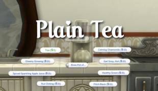 Мод для Симс 4: обыкновенный чай