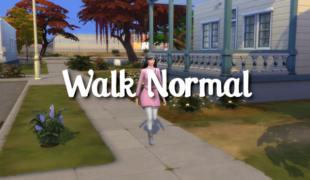 Мод для Симс 4: нормальный стиль ходьбы