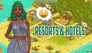 Мод для Симс 4: отели и курорты