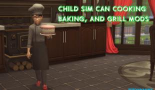 Мод для Симс 4: кулинарные навыки для детей