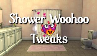 Мод для Симс 4: перед WooHoo в душе раздеваются