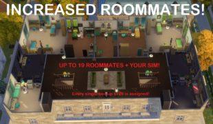 Мод для Симс 4: детальная настройка соседей по комнате