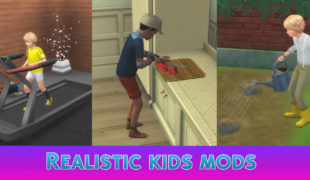 The Sims 4 мод: Умелые дети ( Realistic Kids Mods )