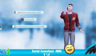 Мод дял Симс 4: социальный консультант