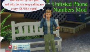 Мод для Симс 4: без звонков от незнакомцев