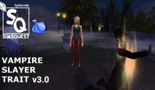 Мод для Симс 4: охотница на вампиров