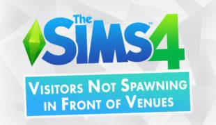 Мод для Симс 4: посетители не появляются перед объектами