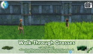 Мод для Симс 4: прогулка по траве