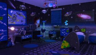 Мод для Симс 4: спальня в космическом стиле