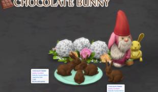 Мод для Симс 4: шоколадный зайчик