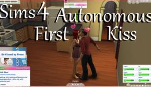 Мод для Симс 4: первый поцелуй