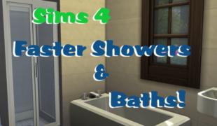 Мод для Симс 4: быстрый душ и ванная