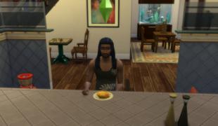 Мод для Симс 4: ускоренный прием пищи