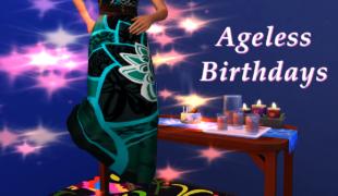 Мод для Симс 4: день рождения без старения