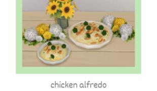 Мод для Симс 4: рецепт 'альфредо с курицей'