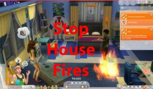 Мод для Симс 4: предотвращение случайных пожаров