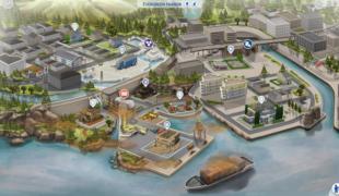Мод для Симс 4: карта Evergreen Harbor